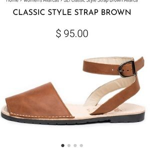New! PONS AVARCAS Classic Strap Style Brown 8